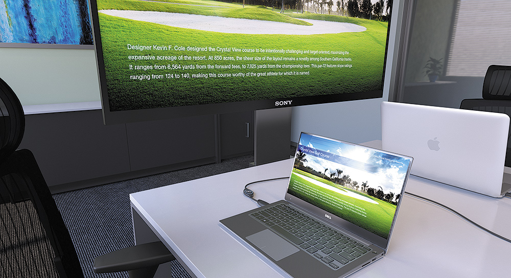 Select your laptop for display right from your seat