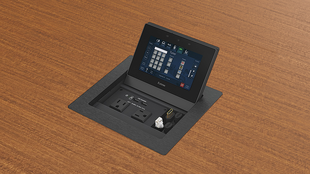 TLP Pro 525C Installed in Table - Populated with Optional Accessories