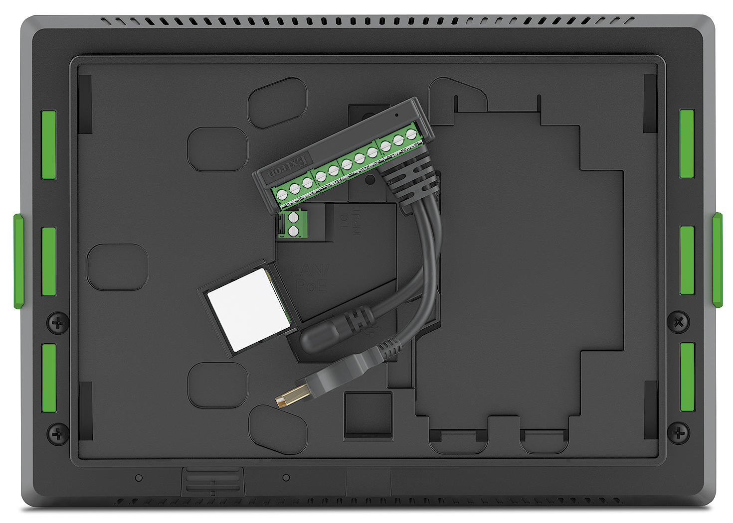 TLP Pro 725M - Back with TLCA 1 TouchLink Control Adapter