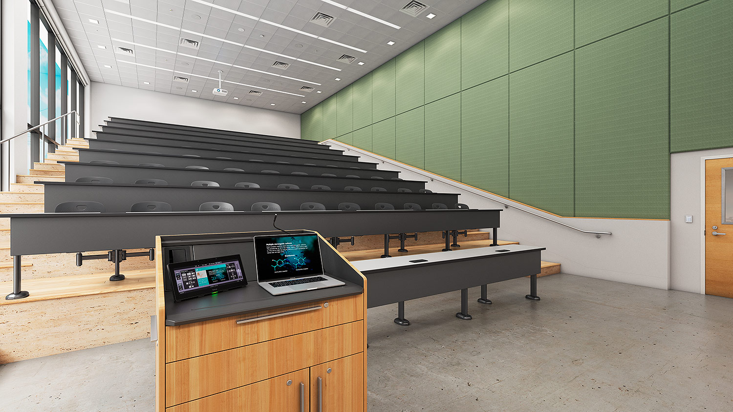 TLP Pro 1230WTG in a lecture hall