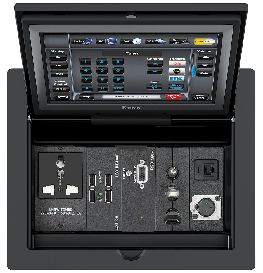 TLP Pro 720C - Top view with universal outlet
