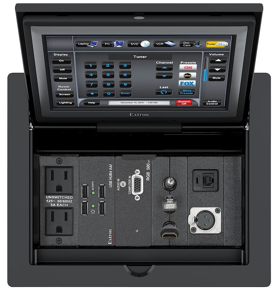 TLP Pro 720C - Top view with US AC outlets