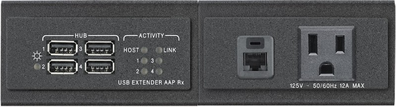 TMK 120 AAP shown with USB Extender AAP Rx and AC Net AAP-US, sold separately