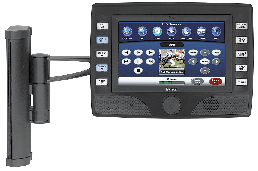 VESA mounting of TLP 700TV, TouchLink panel and mounting arm sold separately