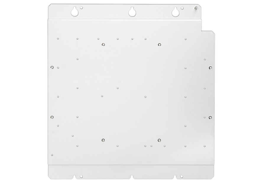Base plate offers a wide variety of mounting and cable management options