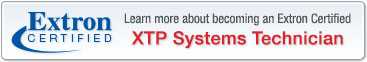 Extron Certified XTP Systems Technician