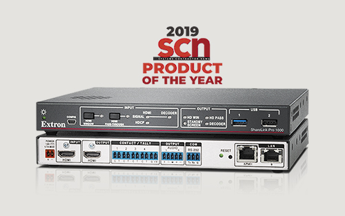 Extron ShareLink Pro 1000 Wins SCN 2019 Product of the Year Award