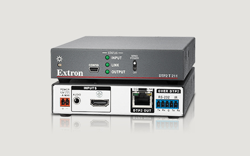 Extron Now Shipping DTP2 T 211 4K/60 HDMI Transmitter with Audio Embedding