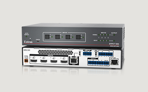 Extron Ships New Advanced Four Input 4K/60 4:4:4 HDCP 2.2 Switcher with Integrated DTP2   Transmitter