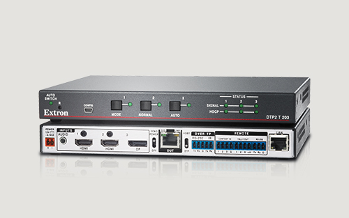 Extron Ships Advanced Three-Input 4K/60 4:4:4 Switcher with Integrated DTP2 Transmitter
