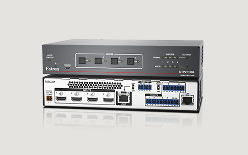 Extron Introduces New Advanced Four Input 4K/60 4:4:4 HDCP 2.2 Switcher with Integrated DTP2 Transmitter