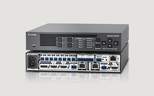 Extron Introduces New Four Input 4K/60 4:4:4 Seamless Scaling Switcher with DTP2 Inputs and Outputs