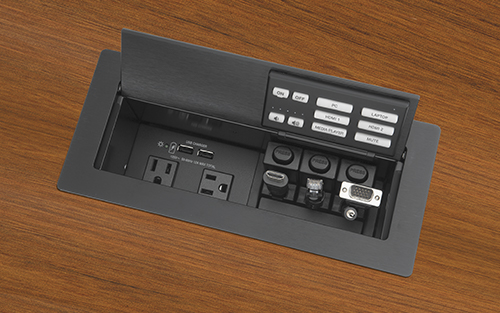 New Network Button Panel Provides Room Control with Cable Cubby Convenience