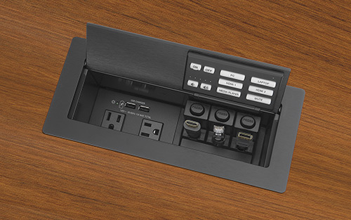 Extron Now Shipping Network Button Panel With AV Control and Cable Cubby Convenience