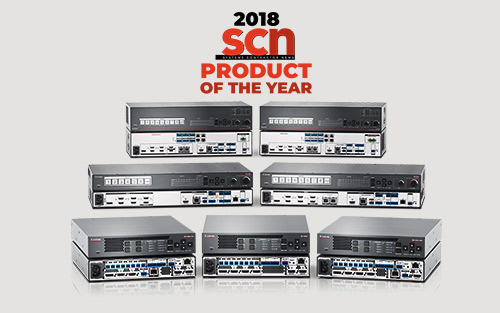 Extron IN1800 Series 4K/60 Presentation Switchers Win SCN 2018 Product of the Year Award