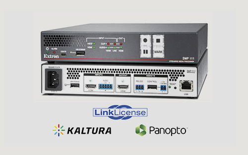New Extron SMP 111 Upgrades for Live Streaming to Kaltura and Panopto Now Available