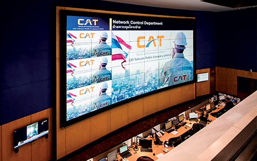 Quantum Elite Powered Videowall Provides Clear View of Network Conditions for Thailand's CAT Telecom