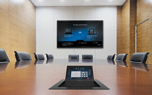 "Now Shipping Easy-to-Install 7"" Touchpanel That Blends Powerful AV Control with A Cable Cubby"