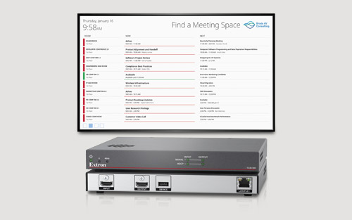 New Extron Interactive Wayfinding Interface Connects Users with Meeting Spaces