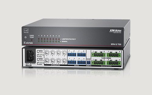 Extron Now Shipping More Powerful Version of 8 Channel Half-Rack Amplifier