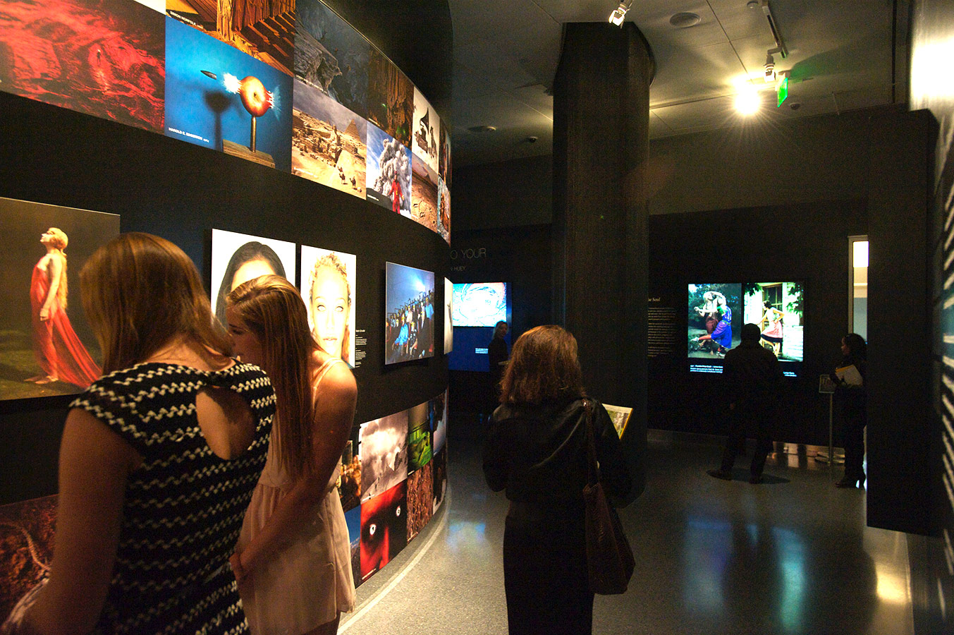 During the recent NAT GEO exhibition, visitors were surrounded by photographs and video produced over decades in the field.