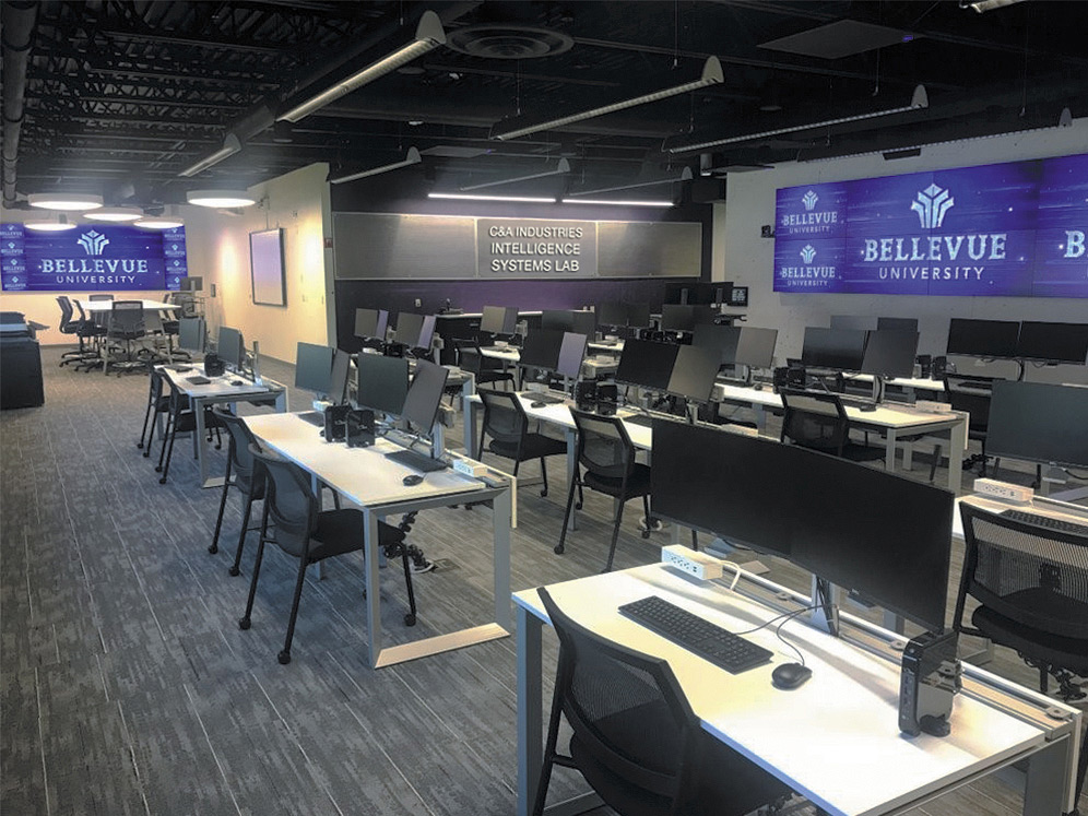 Bellevue University's C&A Industries Intelligence Systems Lab. Photo courtesy of Bellevue University