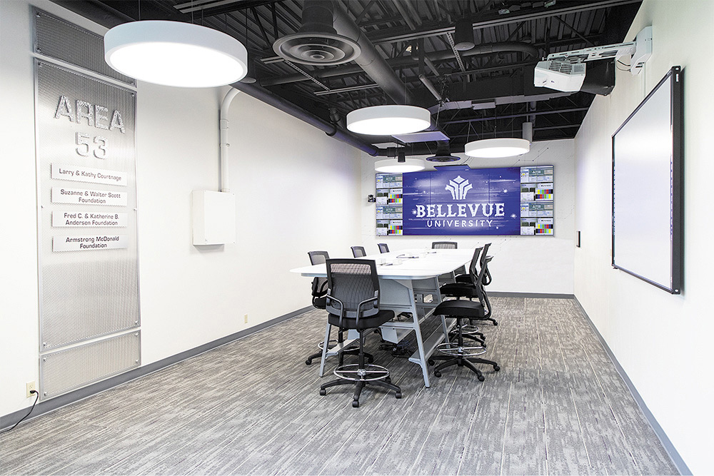 Collaboration space with a 3x2 videowall