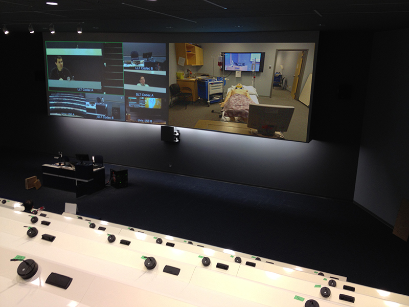 Tying a simulation lab's FOX Matrix system to the distributed medical training system enables content sharing to other labs, lecture halls, and classrooms.