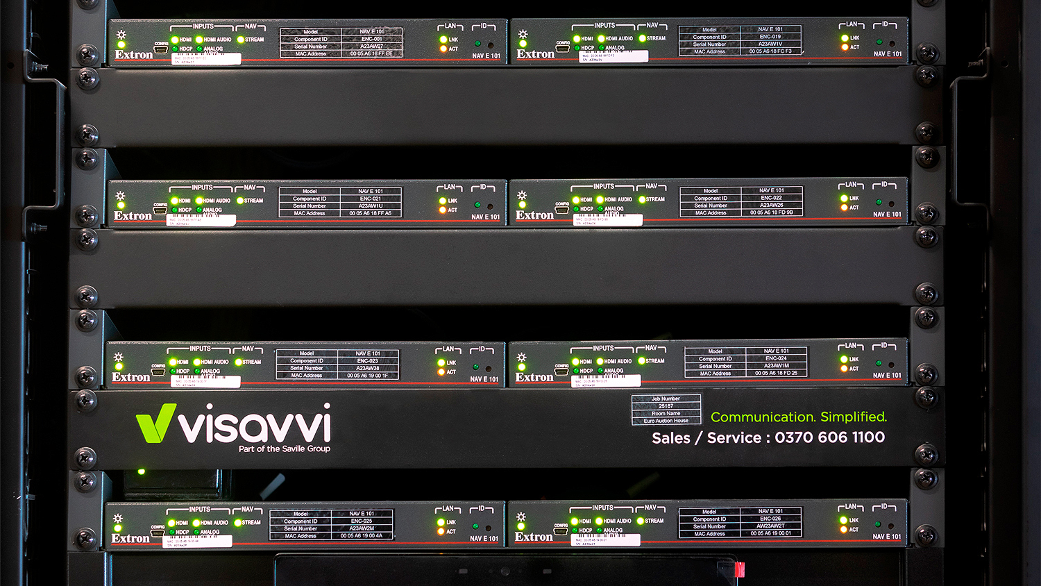 Eight NAV E 101 Pro AV over IP Encoders