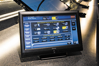 TouchLink touchpanels enable AV system operation and monitoring from the lectern and the control room.