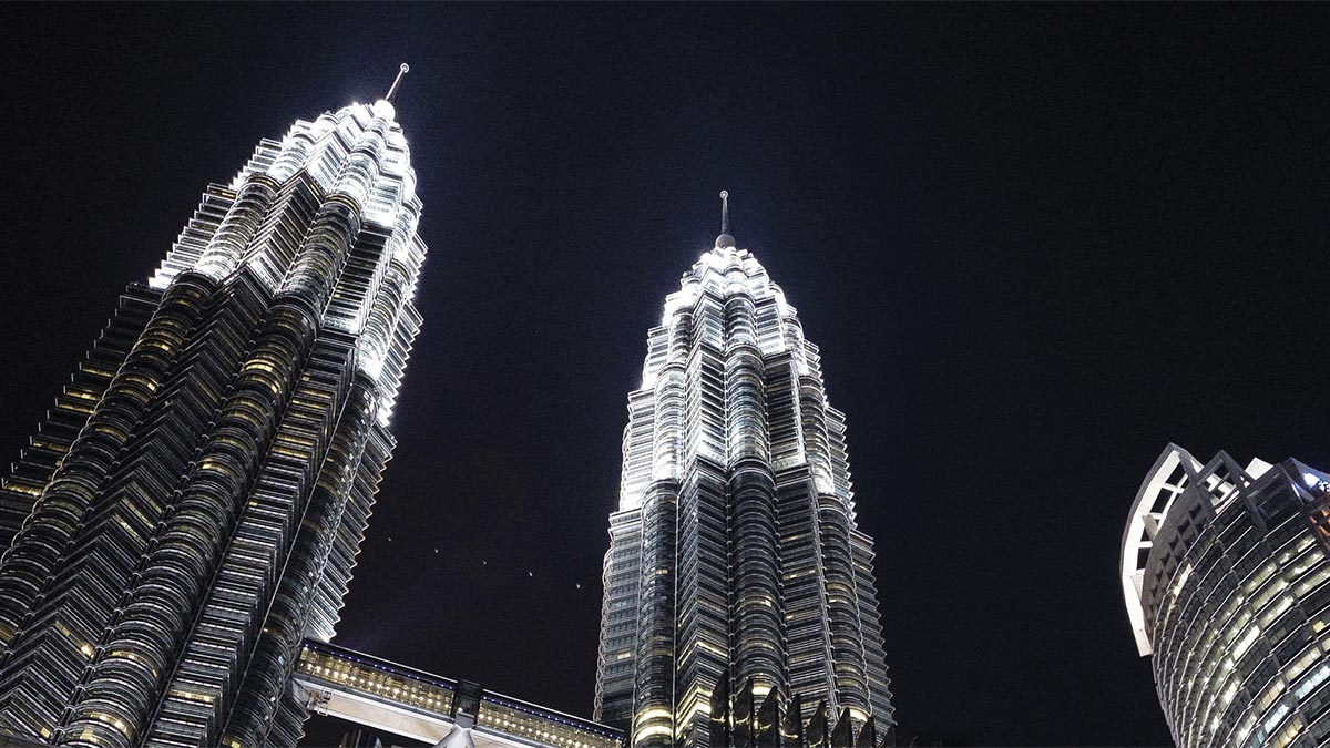 Petronas Twin Towers Headquarters at night