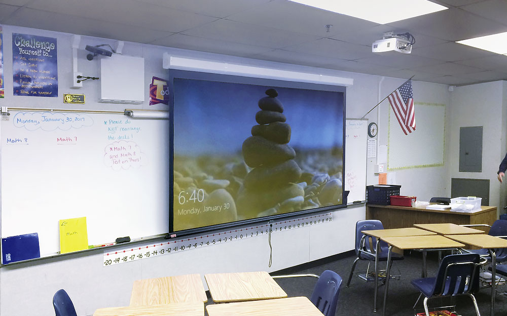 Extron's WallVault Digital System installed in a classroom