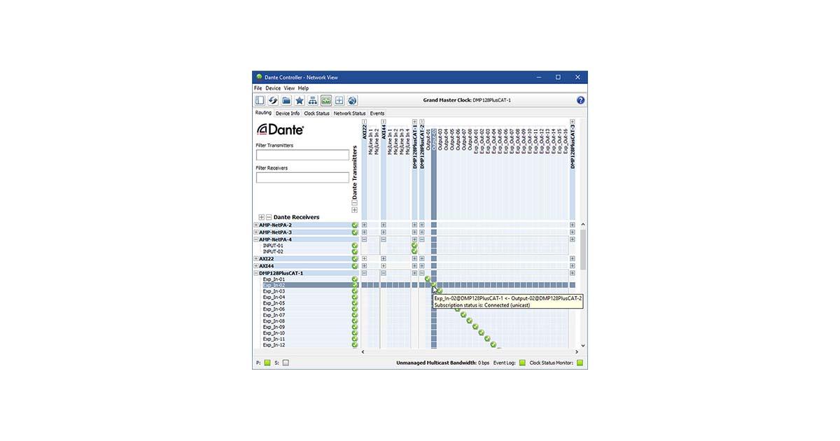 Dante Controller - Software   Extron