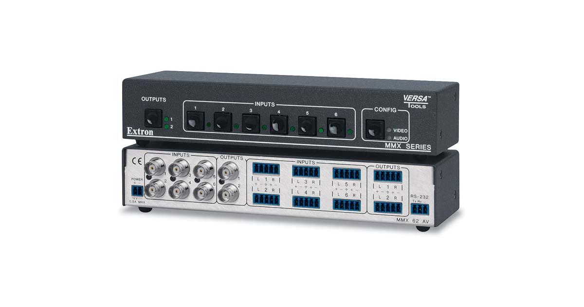 MMX 62 AV Retired Pro 6x2 Composite Video And Stereo Audio Matrix Switcher