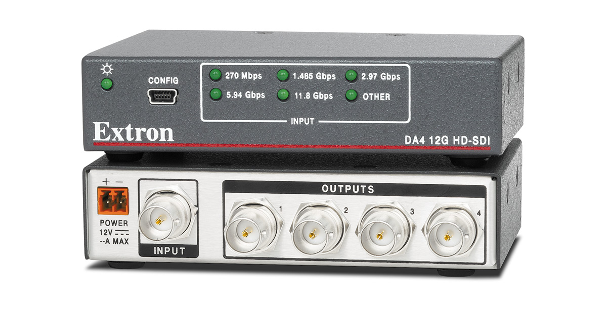 Hd Sdi 3g Sdi Amp 12g Sdi Distribution Amplifiers Extron