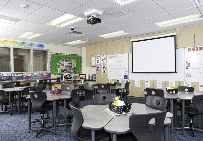 Classroom Av Design ~ Painted hills middle school creates a unique collaborative