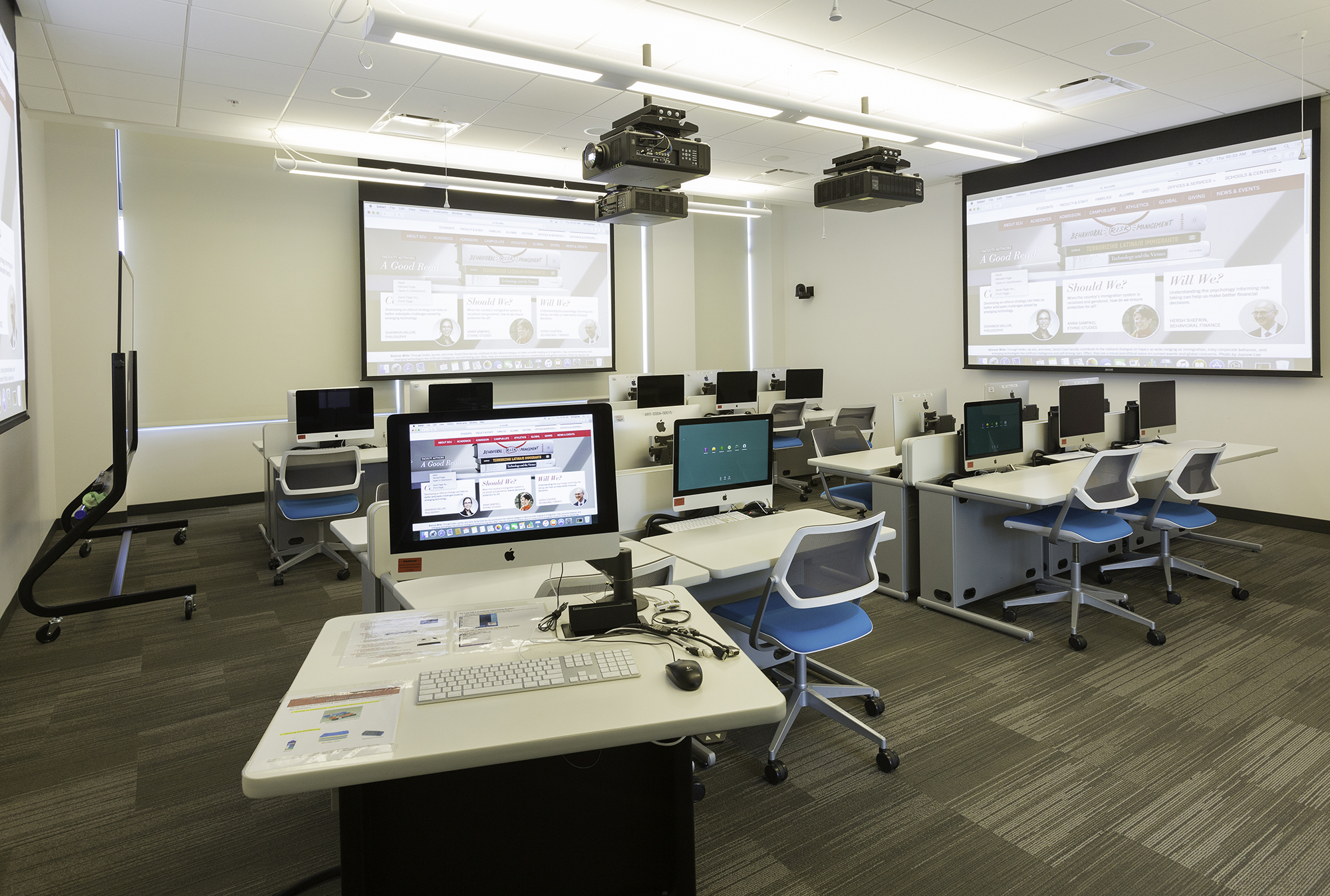 Each learning environment with a videoconferencing system is designed to support instruction and collaboration between local and remote locations.