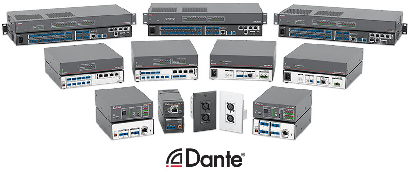 Dante-Enabled Products from Extron