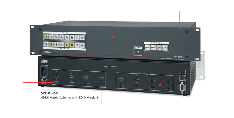 Dxp hdmi and dvi pro series extron publicscrutiny Image collections