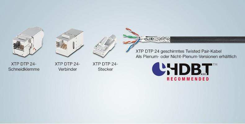 HDBaseT-Kompatibilität vereinfacht die Anschlussmöglichkeiten   Extron