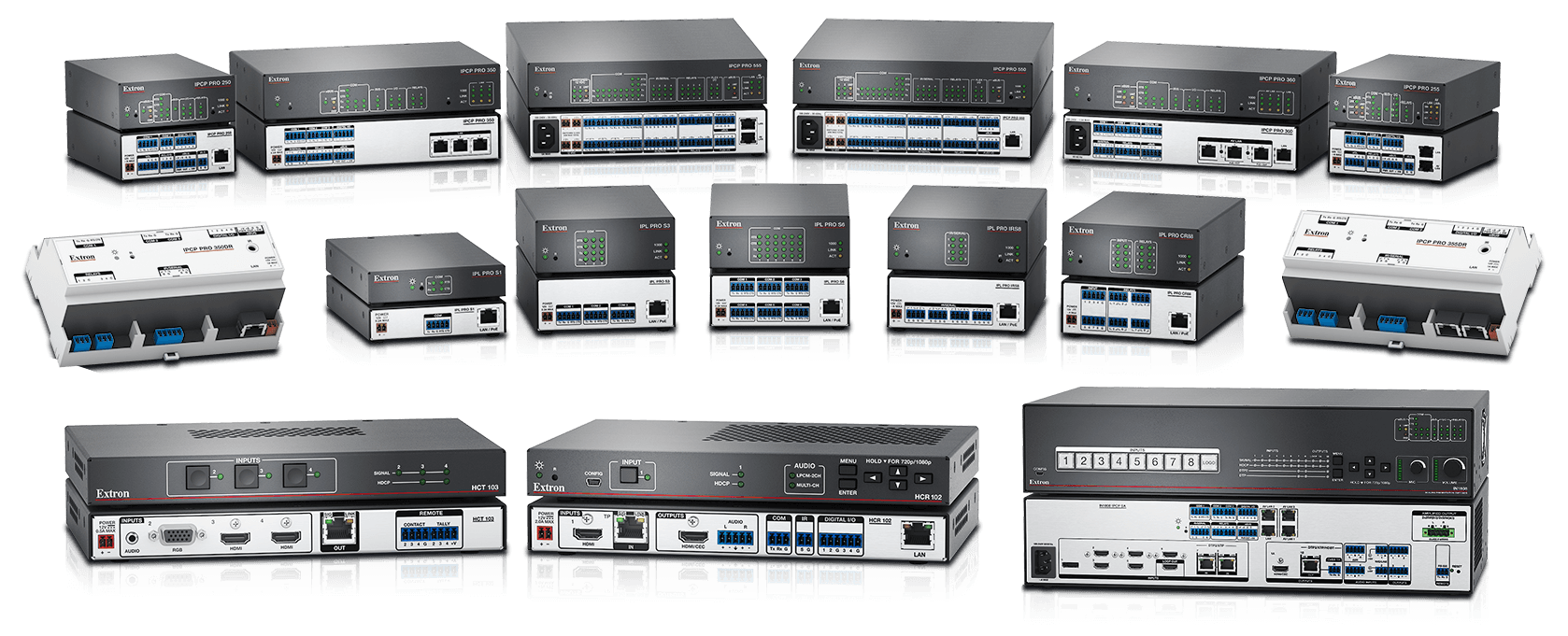 IP Link Pro control processors and HC 400 Series systems