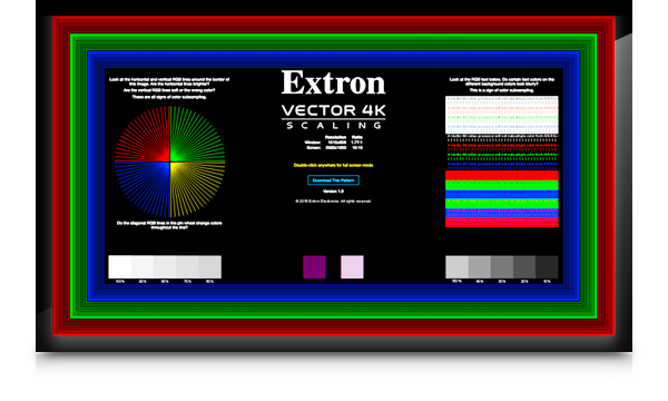 606060 Test Pattern Extron Delectable Test Pattern