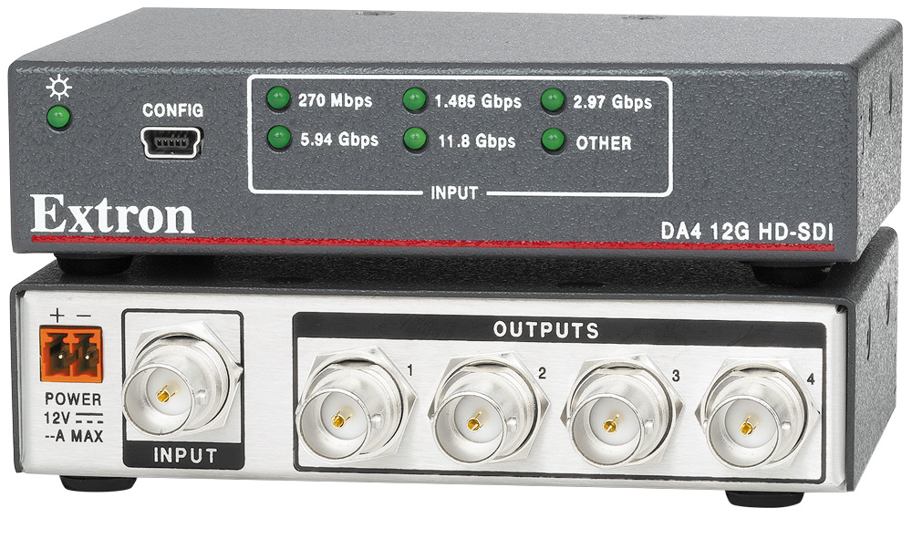 The Extron DA4 12G HD-SDI
