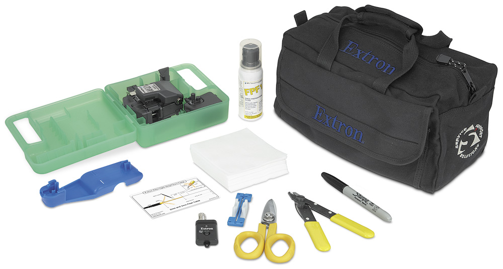 The Extron Fiber Optic Termination Kit