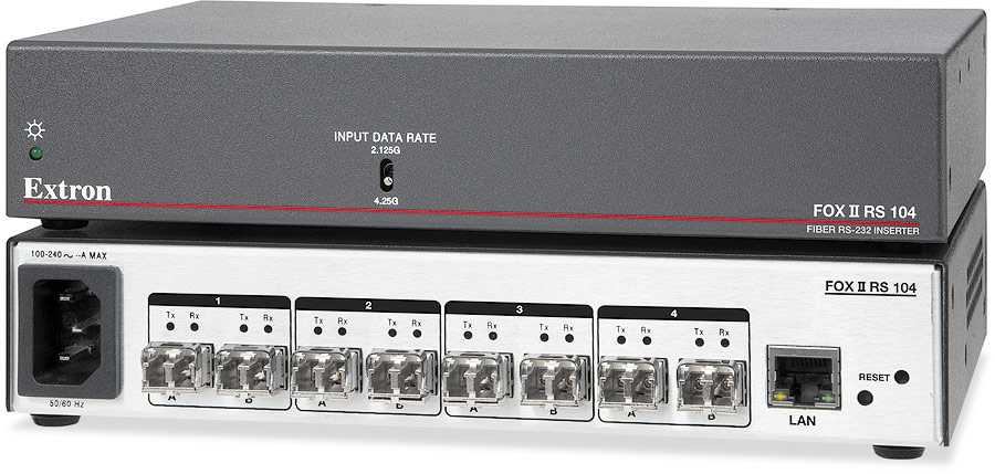 The Extron FOX II RS 104