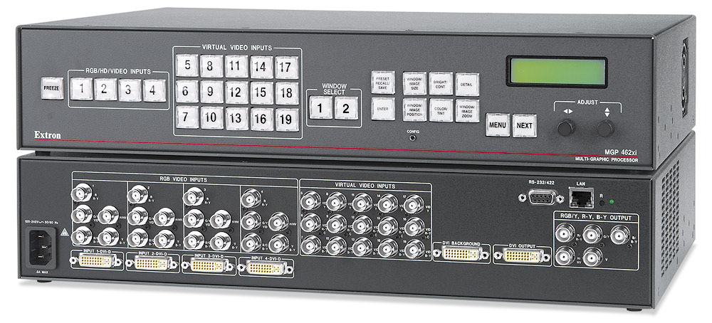 MGP 462xi DI - Two Windows, With 4 DVI Inputs