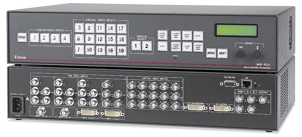 MGP 462xi HD-SDI - Two Windows, 2 HD-SDI & 2 DVI Inputs