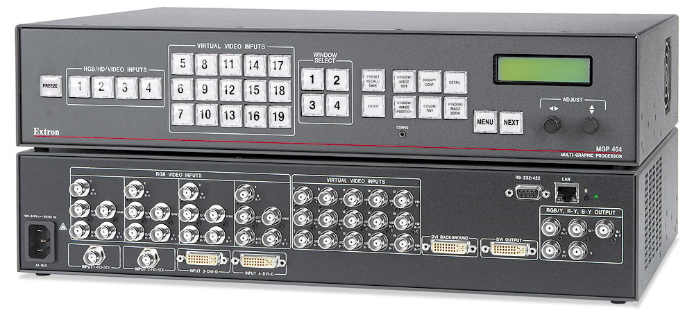 MGP 464 HD-SDI - Four Windows, 2 HD-SDI & 2 DVI Inputs