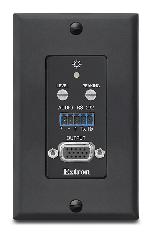 MTP R 15HD RSA D - Receiver, Decorator-Style Wallplate - Black