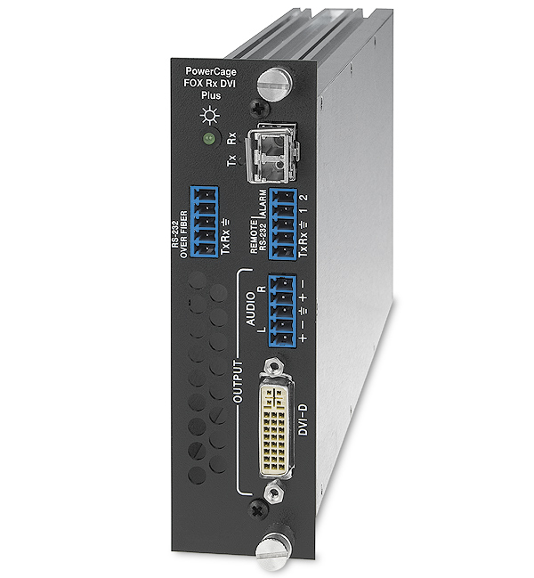 The Extron PowerCage FOX Rx DVI Plus